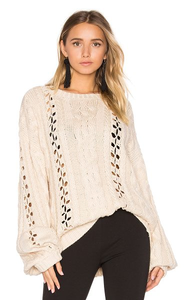 FOR LOVE & LEMONS KNITZ Wythe Bell Sleeve Sweater - 55% cotton 45% acrylic. Ribbed trim. FORL-WK42....