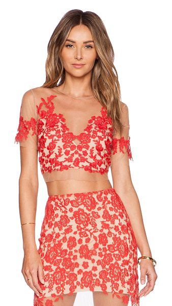 FOR LOVE & LEMONS Luau crop top - Self: 100% polyLining: 90% poly 10% spandex. Dry clean...
