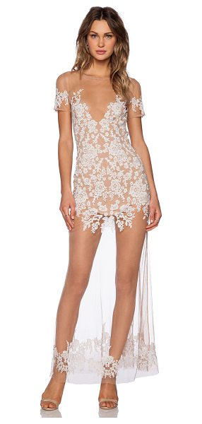 FOR LOVE & LEMONS Luau maxi dress - Poly blend. Hand wash cold. Partially lined. Embroidered...