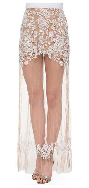 FOR LOVE & LEMONS Luau sheer/embroidered maxi skirt - For Love & Lemons Luau skirt in embroidered mesh with...