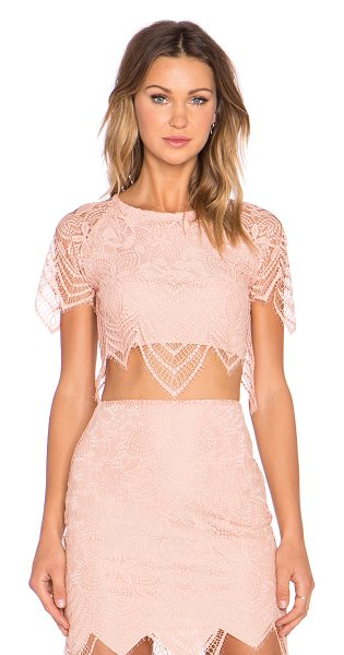 For Love & Lemons Luna Crop Top in blush - Self: 100% nylonLining: 90% poly 10% spandex. Dry clean...
