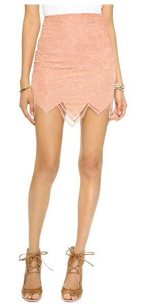 For Love & Lemons Luna miniskirt in pale blush