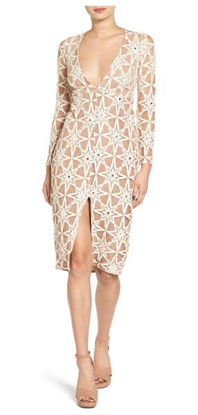 For Love & Lemons metz midi dress in latte - You're a star, so you might as well dress like one-make...