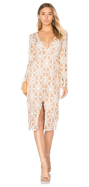 FOR LOVE & LEMONS Metz Midi Dress - Self: 71% cotton 29% nylonLining: 90% poly 10% spandex....
