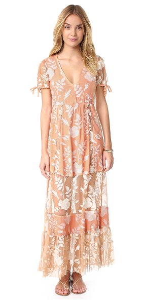 For Love & Lemons mia maxi dress in peach - Floral embroidery accents this For Love & Lemons maxi...
