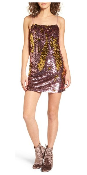 FOR LOVE & LEMONS sparklers sequin minidress - Sparkle and shine brighter than the disco ball on the...