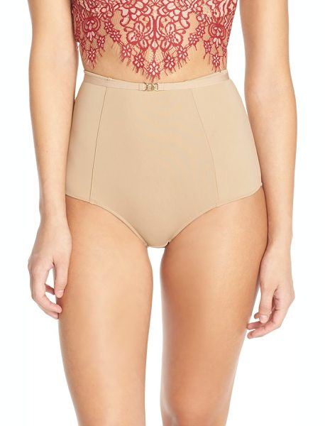 FOR LOVE & LEMONS sweetheart high waist briefs - Smooth microfiber defines these retro-inspired,...