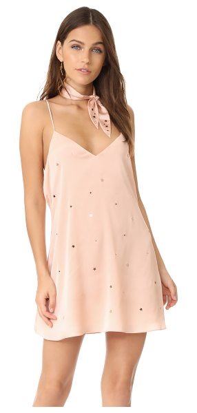 FOR LOVE & LEMONS twinkle slip dress - Reflective stars add a charming finish to this sleek For...