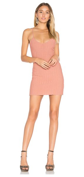 "For Love & Lemons x KNITZ Simone Tank Mini Dress in rose - ""65% viscose 35% nylon. Dry clean only. Unlined...."