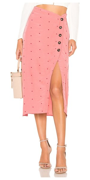 For Love & Lemons x revolve midi skirt in pink dot