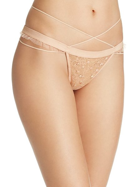 For Love & Lemons Zodiac Strappy Thong in nude - For Love & Lemons Zodiac Strappy Thong-Women