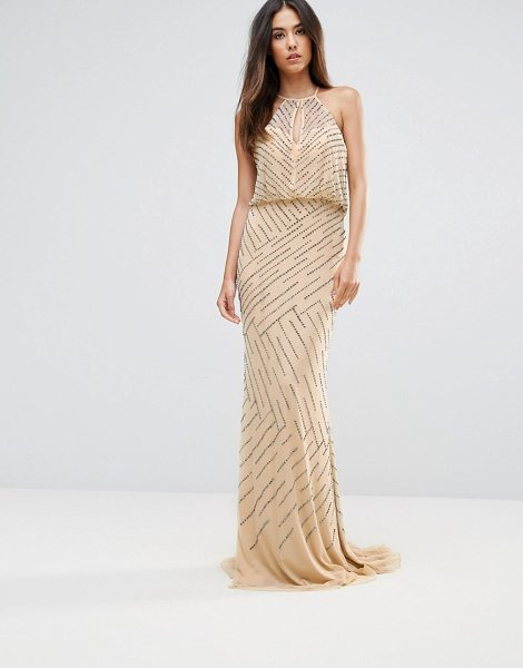 "FOREVER UNIQUE All Over Embellished Maxi Dress With Drape Back - """"Maxi dress by Forever Unique, Lightweight woven..."