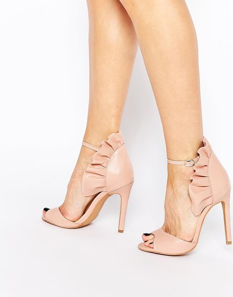 Forever Unique Camden leather heeled sandals in nude