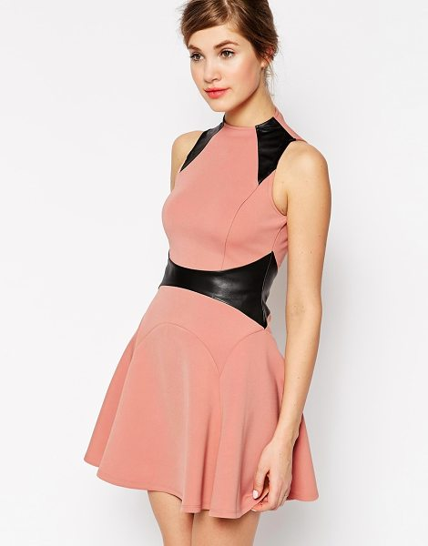 Forever Unique Celia skater dress in nude - Evening dress by Forever Unique Smooth, woven fabric...