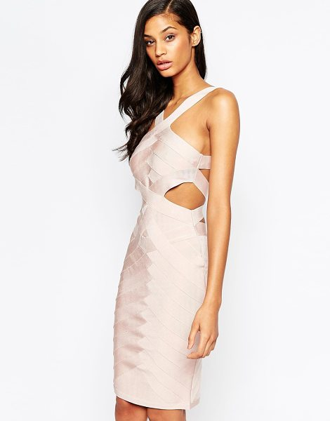 Forever Unique Lagoon bandage dress in nude - Evening dress by Forever Unique, Bandage-style fabric,...