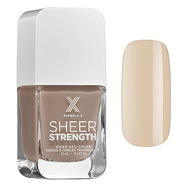 FORMULA X sheer strength - treatment nail polish mighty - A complete, nutrient-enriched nail strengthener with a...