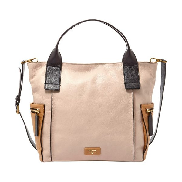 FOSSIL Emerson colorblock leather satchel - Go from work to weekend seamlessly with this...