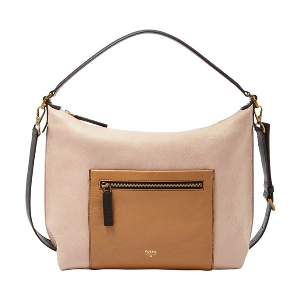 FOSSIL Vickery leather shoulder bag - Function meets fashion with this leather bag designed...