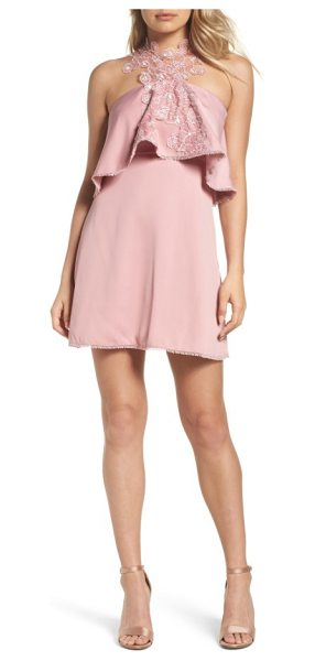 FOXIEDOX zoe popover bodice minidress - Wreathed in delicate flowers at the halter-inspired...