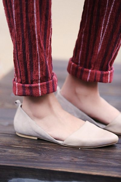 FP Collection Montana clara flat in ballet - Pointy toe slip-on flats with tonal leather and suede...