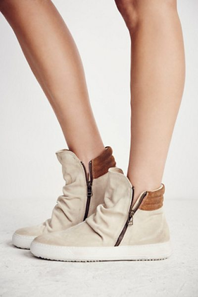 FP Collection Whistler hi top sneaker in natural suede - Made from the finest Italian craftsmanship these suede...