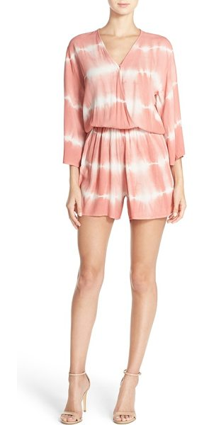 Fraiche by J tie dye crepe romper in rose - Hand-dyed cobalt hues enhance the resort-ready vibes of...