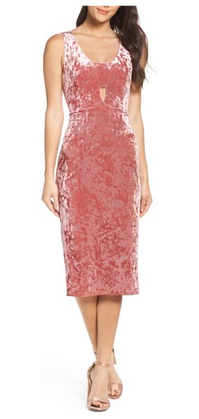 Fraiche by J velvet midi dress in ice pink - Get noticed in this scoop-neck midi of crushed velvet...