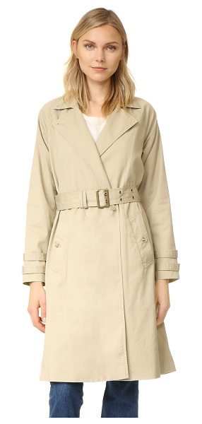 Frame classic trench coat in camel - A FRAME trench coat with timeless appeal. Notched lapels...