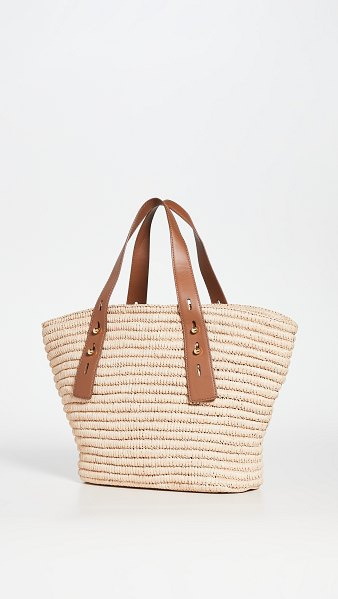 Frame les second medium tote in natural/tobacco