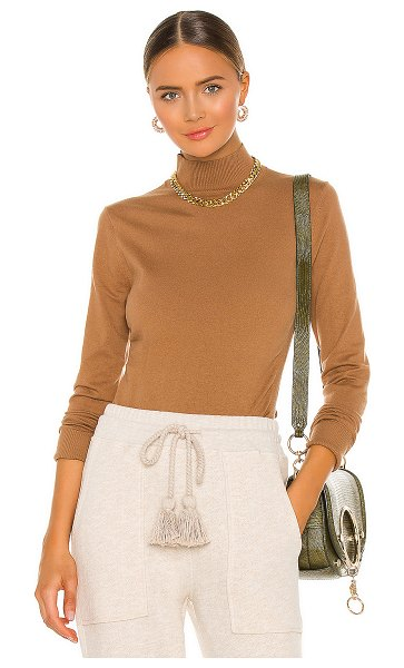 Frame luxe turtleneck sweater in camel
