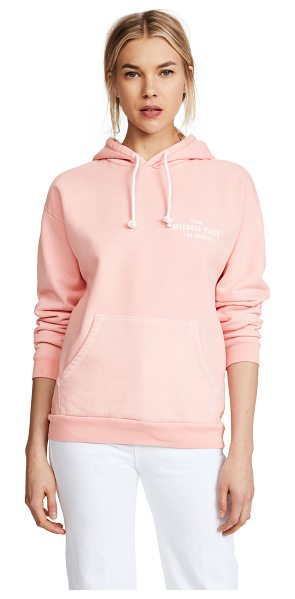 Frame oversized hoodie in faded light pink - Fabric: French terry Pullover sweatshirt style...