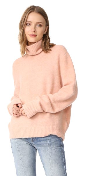 FRAME slouchy turtleneck sweater - This relaxed FRAME turtleneck sweater has a brushed...