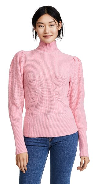 Frame voluminous sweater in spanish pink - Fabric: Ribbed knit Pullover style Waist-length style...