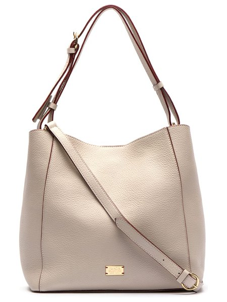 Frances Valentine medium june leather hobo in beige - From work gear to weekend stuff, you lug a whole lot of...