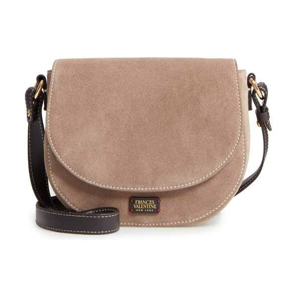 Frances Valentine mini ellen suede crossbody bag in stone - Just the right size for carefree carrying, this mini...