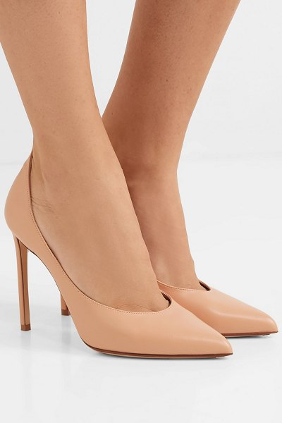 FRANCESCO RUSSO leather pumps in neutral