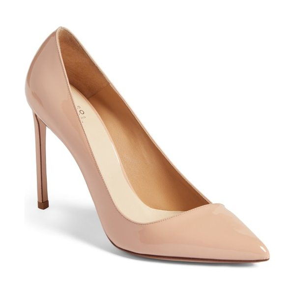 FRANCESCO RUSSO pointy toe pump - An asymmetrically low-cut topline adds a modern vibe to...