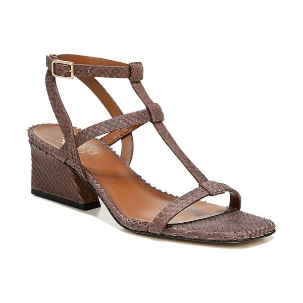 Franco Sarto chopra t-strap sandal in brown