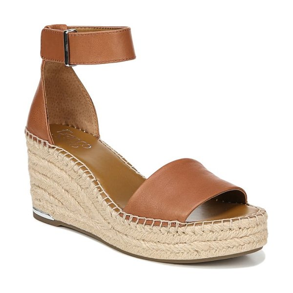 Franco Sarto clemens espadrille wedge sandal in brown