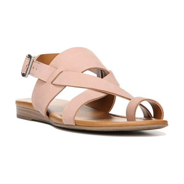 SARTO By Franco Sarto gia sandal in adobe rose nubuck - Sleek, streamlined design defines a smooth sandal with a...