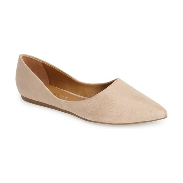 Franco Sarto heath pointy toe flat in beige leather - A shapely topline distinguishes a flexible pointy-toe...
