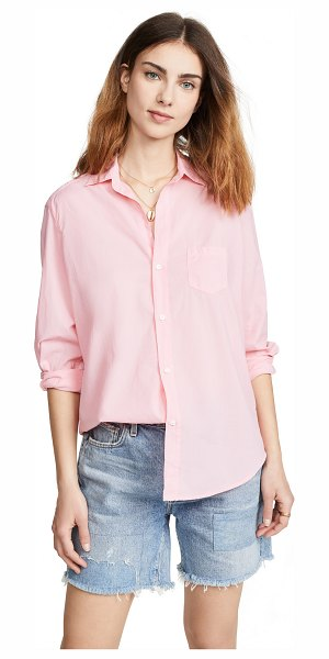 Frank & Eileen eileen button down shirt in bright pink