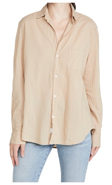 Frank & Eileen womens button down in sand