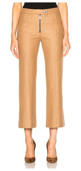 Frankie Cropped Wool Flare Pants in camel - Self: 80% wool 16% nylon 4% angoraLining: 100% poly....