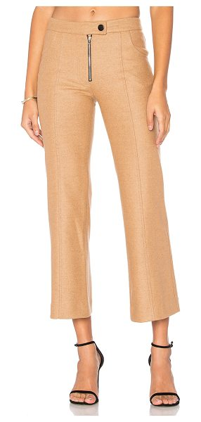 Frankie Wool Crop Pant in tan - Shell: 80% wool 16% nylon 4% angoraLining: 100% poly....