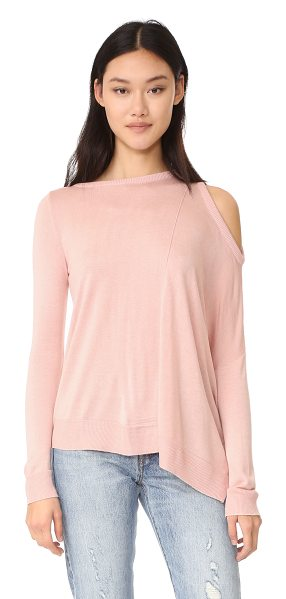Fred and Sibel one shoulder top in blush - A soft, fine-knit Fred and Sibel sweater in an...