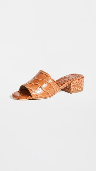 Freda Salvador sonia mid heel sandals in almond