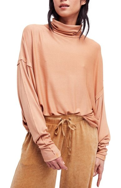 FREE PEOPLE alameda turtleneck top - A soft, stretchy turtleneck top with long batwing...