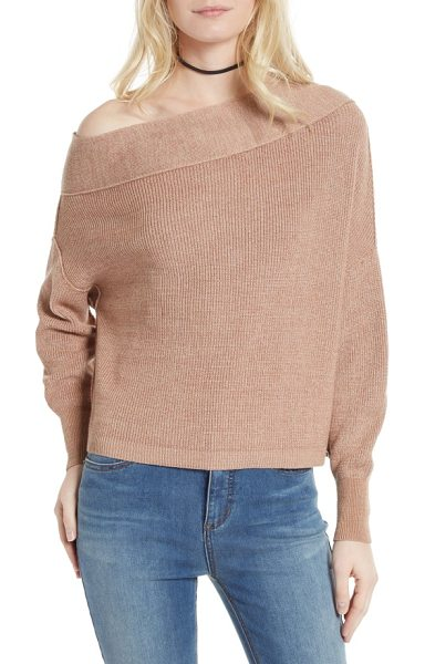 Free People alana pullover sweater in beige - Richly colored marled yarns create tantalizing dimension...