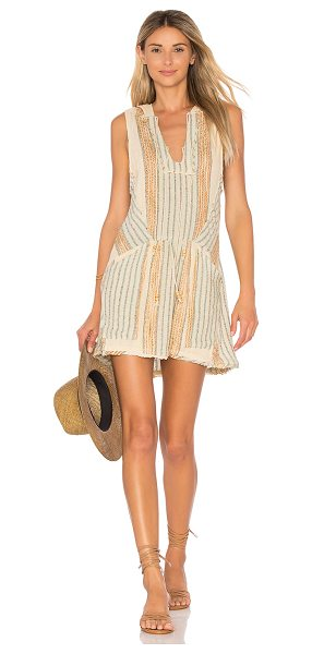 Free People All Right Now Mini in beige - Everything will be alright when you slip into this woven...